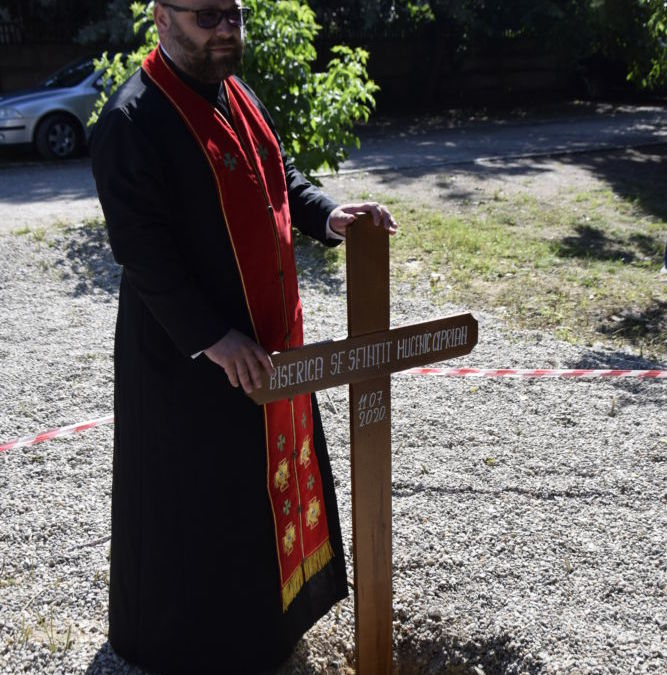 Punerea pietrei de temelie a Bisericii cu hramul Sfantul Sfintitul Mucenic Ciprian, Cluj Napoca