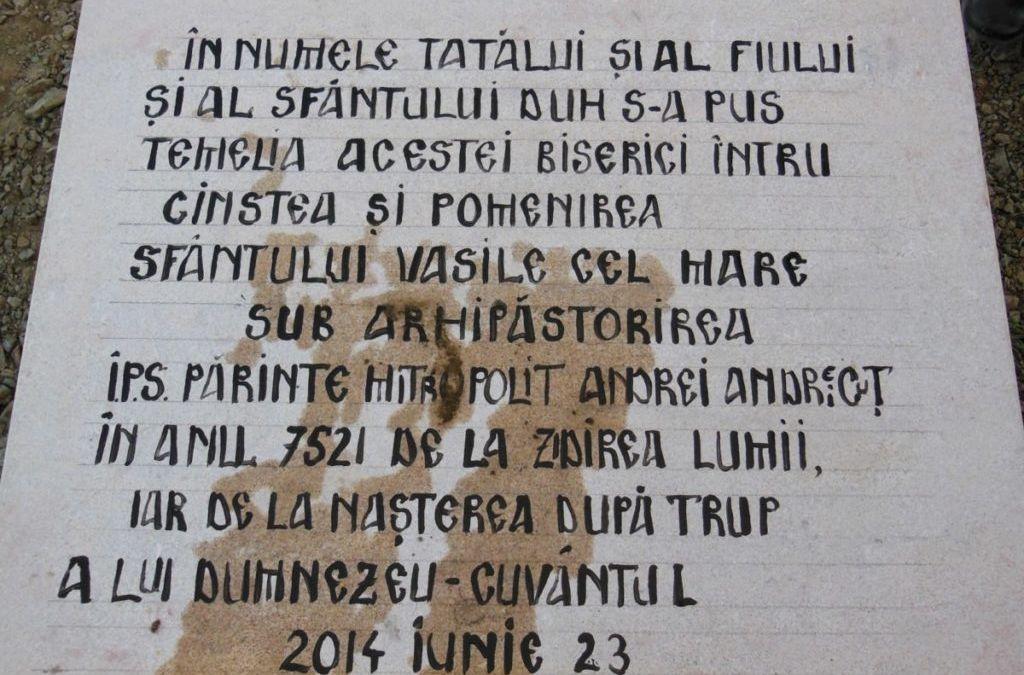 """Punerea Pietrei de temelie pentru viitoarea biserica a Manastirii """"Sfantul Vasile cel Mare"""" din Somesu Cald-Cluj!"""